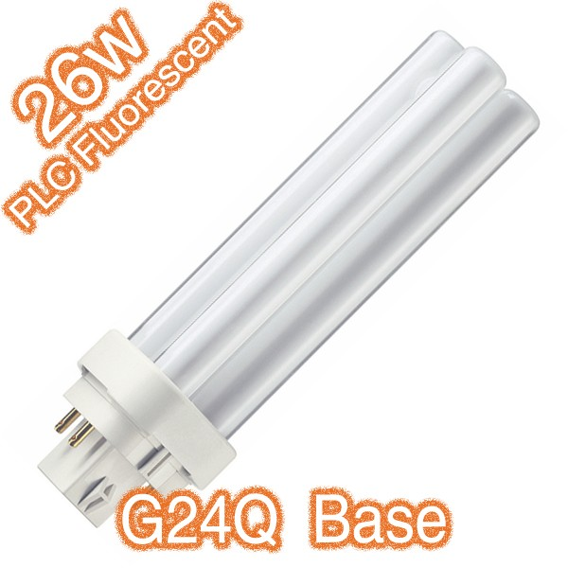 PLC 4Pin G24Q 26w Compact Fluorescent Tube 240v Globe