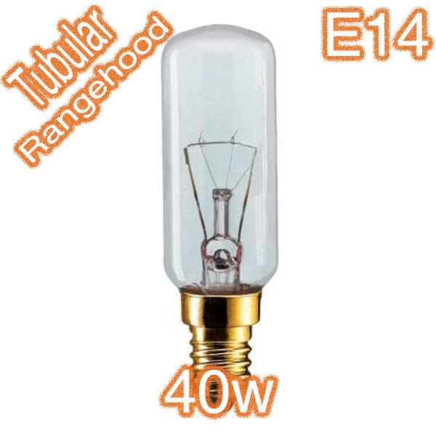 40w E14 Tubular Rangehood Lamp 240v Globe