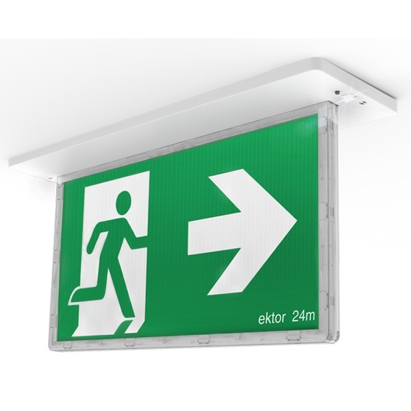 Blade Exit Lights Sign LED 24m Commercial Lighting