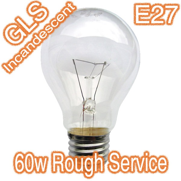 60w E27 Garage Rough Construction Incandescent Lamp 240v Globe
