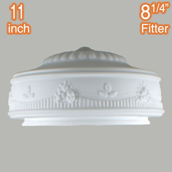 Senator 11 inch Glass Shade Traditional Opal Matt