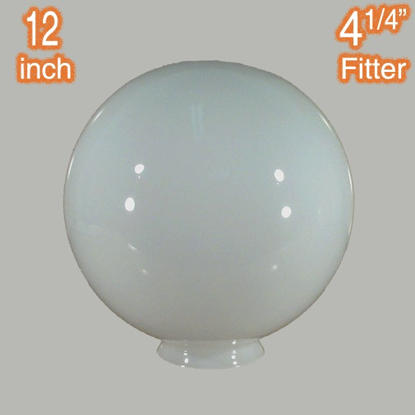 Round Ball 12 inch Sphere Glass Shade Opal Gloss