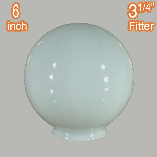 6 inch Sphere Glass Ball Round Shade Opal Gloss