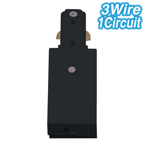 Black Live End Track Lighting 3Wire 1Circuit