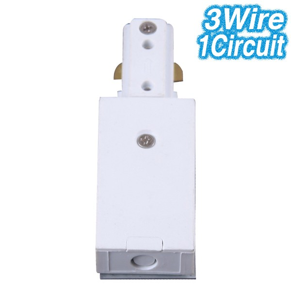 White Live End Track Lighting 3Wire 1Circuit