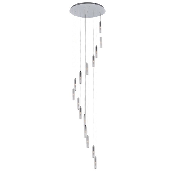 Crystal chrome pendant light beacon lighting zenon aloadofball Choice Image