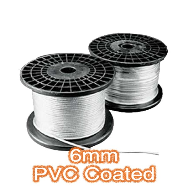 Trapeze Lighting Cable 6mm PVC Coated