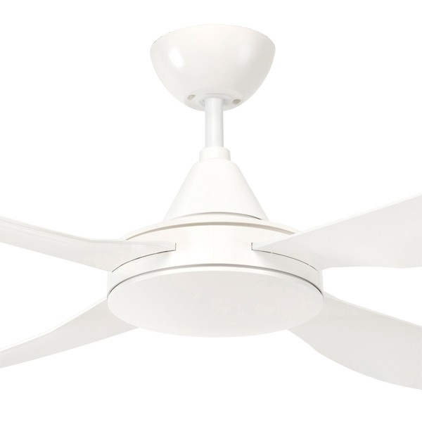 Rustproof Vector Ceiling Fans Coastal AC ABS Resin White Brilliant Lighting