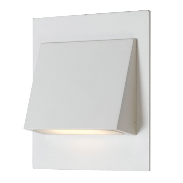 Brea LED Stair Lights Square White Lighting Wall Telbix