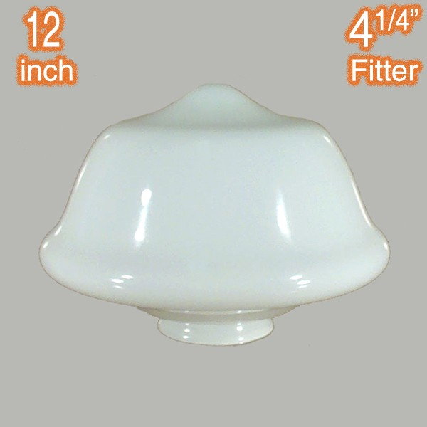 Opal Gloss Victorian Schoolhouse 12 inch Glassware Lamps Shades Traditional Lighting