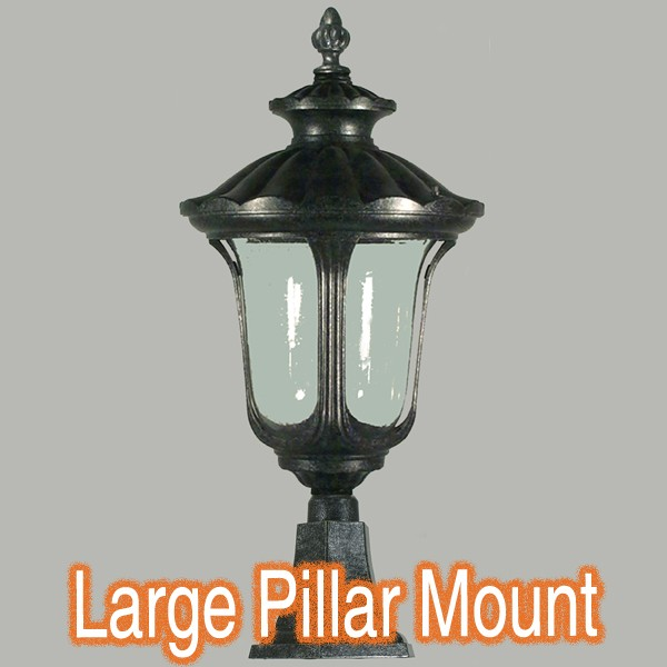 Exterior Lighting Traditional Pillar Mounted Light Waterford