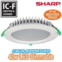 King 40w 230mm Dimmable LED Downlight - White Round