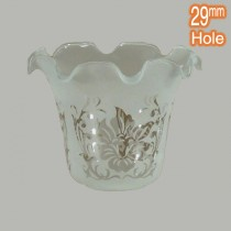 5008 Glass Shade 29mm Hole Frost Etched