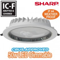 Downlight King 50w Dimmable LED Commercial Shopfitting White Round Ceiling Lights