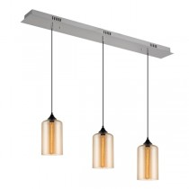Pendants Lighting Abby 3 Lights Glass Amber Kitchen Suspended