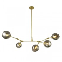 Branching Bubbles Lighting Chandelier Lindsey Adelman Gold 5 Light Pendant