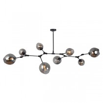 Branching Bubbles Lindsey Adelman Chandelier 8 Light Pendant Black Matt
