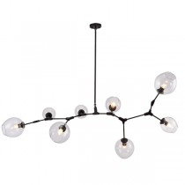 Black Lindsey Adelman Chandelier Branching Bubbles 8 Lights Pendant
