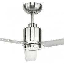 "LED Aluma Ceiling Fans 52"" DC Metal 3Blade Satin Nickel Brilliant Lighting"