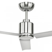 "Ceiling Fans Aluma Bedroom 52"" DC Metal 3Blade Satin Nickel Brilliant Lighting"