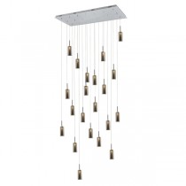 Annie 21 Light Pendant - Smoke