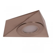 Anova Triangle LED Cabinet Light Nickel Surface Mounted