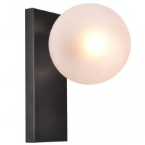 Aston Flush Nickel Matt Black Lights Designer Wall Lighting Sconce