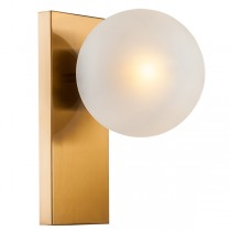 Aston Designer Wall Lighting Sconce Flush Brass Gold Lights