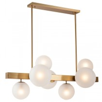 Dining Table Aston Pendants Lights Brass Modern Contemporary Cafe Foyer Lighting