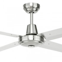 "Coastal Ceiling Fan Atrium 48"" AC Metal 316 Stainless Steel Brilliant Lighting"