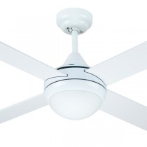 "Timber Ceiling Fans Azure Bedroom Quiet 48"" with Light AC White Hunter Pacific"