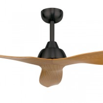 "Ceiling Fans Alfresco Maple Bahama 52"" DC Timber 3Blade Charcoal Brilliant Lighting"
