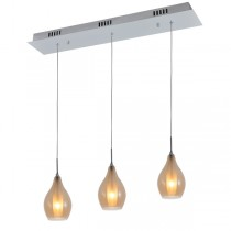 Modern Kitchen Bench Lighting Amber Glass Pendant Light