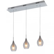 Kitchen Bench Lighting Clear Glass Pendant Light