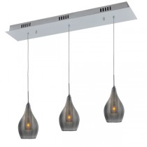 Modern Island Bench Lighting Smoke Glass Pendant Light