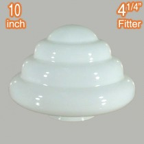 Beehive 10 inch Glassware Lamps Shades Opal Gloss Traditional Retro