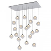 Modern LED Pendants Lighting Glass Replica Bocci Ball Lights Spiral Chandelier