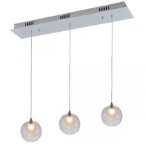 Berly15 3 Light Pendant - Clear