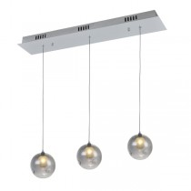 Berly15 3 Light Pendant - Smoke