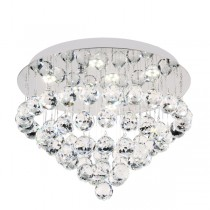 LED Crystal Lighting Flush CTC Lights Almonte Close to Ceiling Lights Round Bliss40 27w