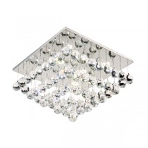 Modern Crystal Lights Flush Bliss40 24w LED Lighting Ceiling Square