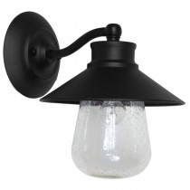 IP44 Industrial Lighting Exterior Boston Wall Lights Matte Black Outdoor