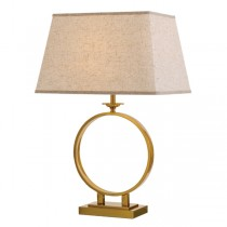 Brena Table Lamps Antique Gold Lights Cream Fabric Shade Telbix Lighting