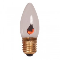 E27 Decorative Bulb Flicker Flame Globe Candle Lamp