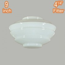 Cannes 9 Inch Glassware Lamps Shades Opal Gloss Lode Lighting International