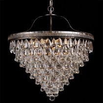 Cascade Large 10 Lights Basket Chandelier Crystal Pendants Lode Lighting
