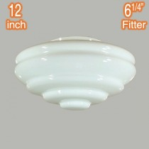 Chateau 12 Inch Glassware Retro Lamps Shades Opal Gloss Period Lights Lighting