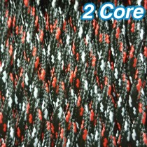 Twisted Fabric Cloth Cord Black White Red 2 Core Lighting Cable 240v