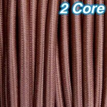 Cocoa Fabric Cloth Cord 2 Core Lighting Cable 240v