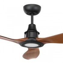 "LED Ceiling Fans Mahogany Black Concorde2 58"" DC Moulded 3Blade Brilliant Lighting"